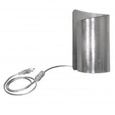 811914 (MT6000-1SL) Настольная лампа PITTORE 1х40W E27 SILVER (в комплекте)