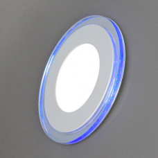 701R-14W-3000K Светильник встраиваемый,круглый,со стеклом,LED-подсветка,14W