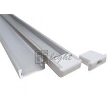 Накладной алюминиевый профиль AN-P331 (с экраном)